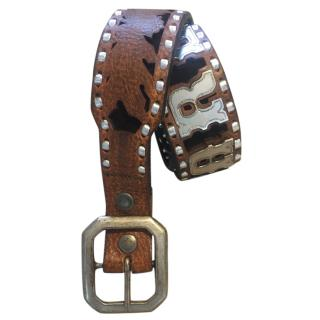 D Squared brown cowboy belt