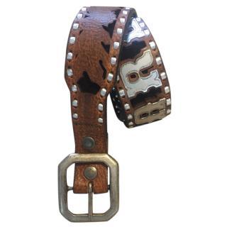 D Squared brown cowboy belt