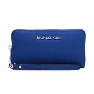 Michael Michael Kors Blue Leather Wallet
