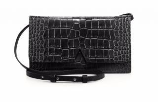 Vince Signature Croc-Embossed Crossbody Bag