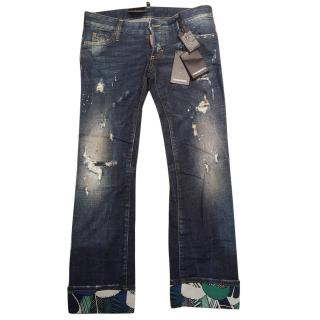 Dsquared2 denim distressed jeans