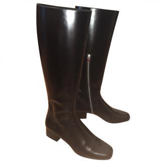 Saint Laurent 40 mm Babies Leather Boots