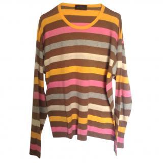 Etro striped multicolor cotton sweater