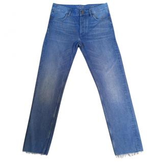 MIH JEANS The Phoebe mid rise slouch leg electric vintage