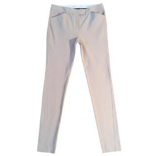 Joseph Jo gabardine stretchy beige skinny trousers