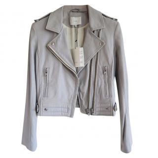 IRO grey leather jacket