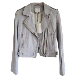 IRO grey leather jacket