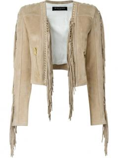 Balmain cropped fringed jacket