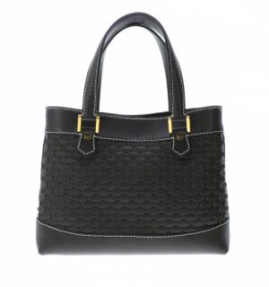 Chopped Dark Brown Leather Tote