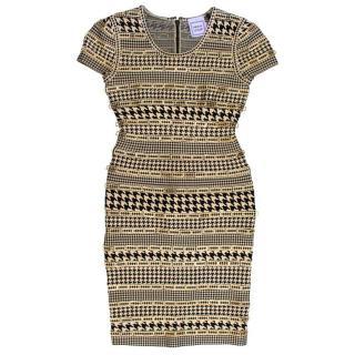 Herve Leger Jacquard Embellished Dress