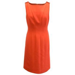 Tory Burch Orange Fitted Dress