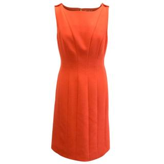 Tory Burch Orange Fitted Dress