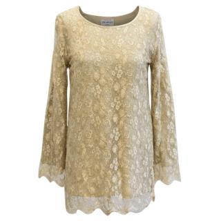 Caroline Charles Gold Lace Tunic