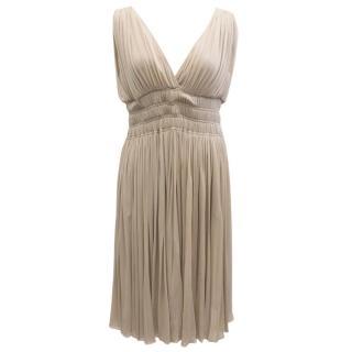 Alessandro Dell'acqua Nude Gathered Dress