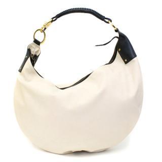 Gucci Cream Canvas Hobo Bag