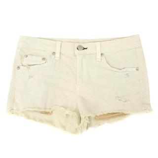 Rag & Bone Beige Denim Shorts