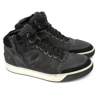 Lanvin Black High Top Sneakers