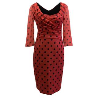 Dolce & Gabbana Red Polkadot Dress