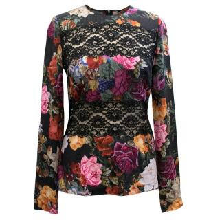 Dolce & Gabbana Floral and Lace Top