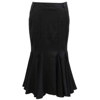 Julien Macdonald Black Wool Trumpet Skirt