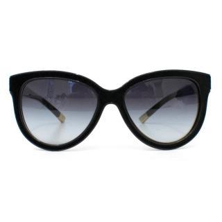 Giorgio Armani Black Velvet Framed Sunglasses