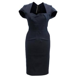 Roland Mouret Ezra Navy Dress