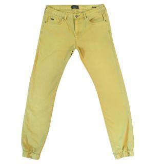 SCOTCH & SODA Dylan mustard coloured casual trouser elasticated hem