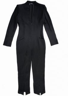 Alexander McQueen Black V Neck Jumpsuit