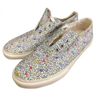 YMC Summer Canvas Shoes, Floral Print, Mens 10 BNWB