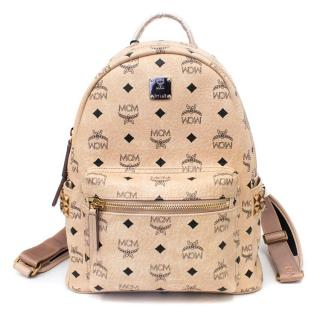 MCM Nude Stark Classic Small Backpack