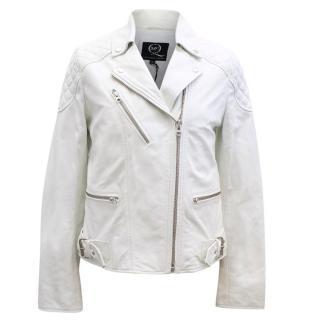 McQ Alexander McQueen White Leather Jacket