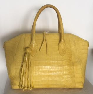 Nancy Gonzalez yellow crocodile bag