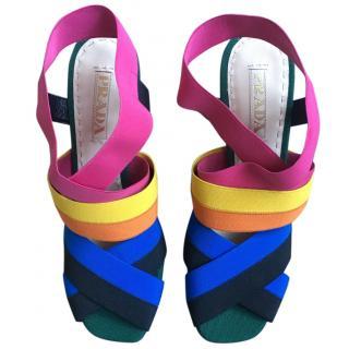 Prada multi coloured heeled sandals 40