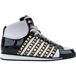 DSquared Studded Hi Top Trainers