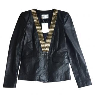 Pierre Balmain studded leather jacket