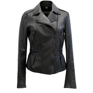 Burberry Black Leather Biker Jacket