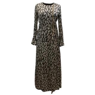 Burberry Prorsum Print Silk Dress