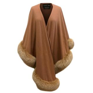 Adrienne Landua Fox Fur Trim Cape
