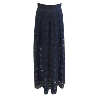 Ginger And Smart Navy Lace Maxi Skirt