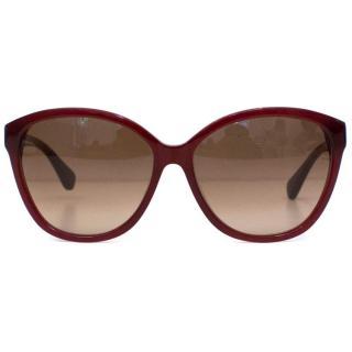 Diane Von Furstenberg Oxblood Red Sunglasses