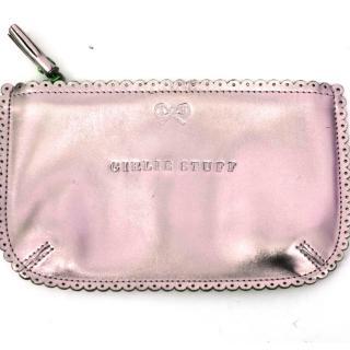Anya Hindmarch Pink Metallic Pouch