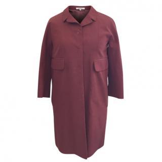 Carven silk blend manteau coat