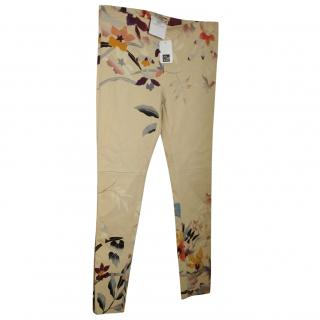 ETRO floral print lambskin trousers