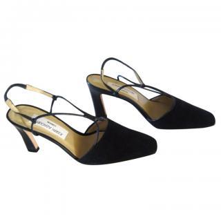 Joseph Azagury navy sling-back heels, 38.1/2