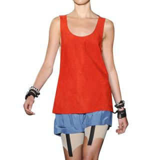 Rag & Bone Open-Back Suede Tank Top