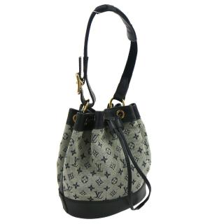 Louis Vuitton Noelie Blue Mini Monogram Canvas Bag