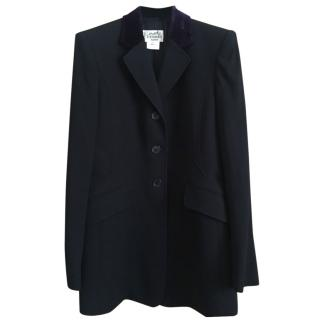 Hermes Fitted Wool Jacket with Velvet Collar