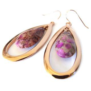 Lola Rose rose gold plated agate earrings