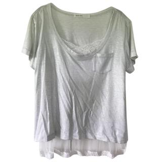 Sacai Silver Cotton Tee