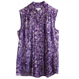 Calvin Klein Purple Animal Print Blouse